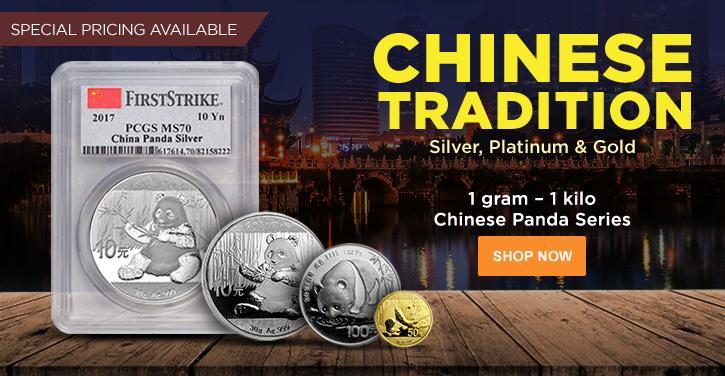 Gold, Silver and Platinum Pandas