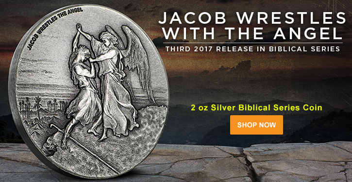 2017 2 oz Silver Jacob Wrestling with the Angel