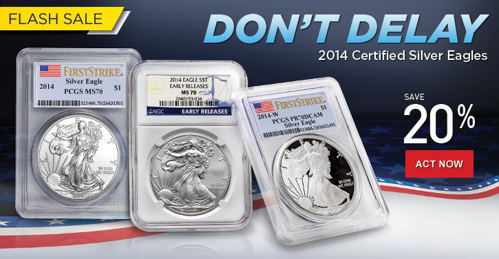 2014 Certified Silver Eagles