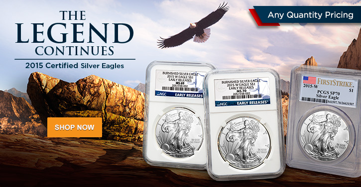 2015 Certified Silver Eagles
