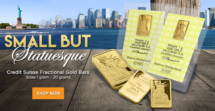 Factional Credit Suisse Gold Bars