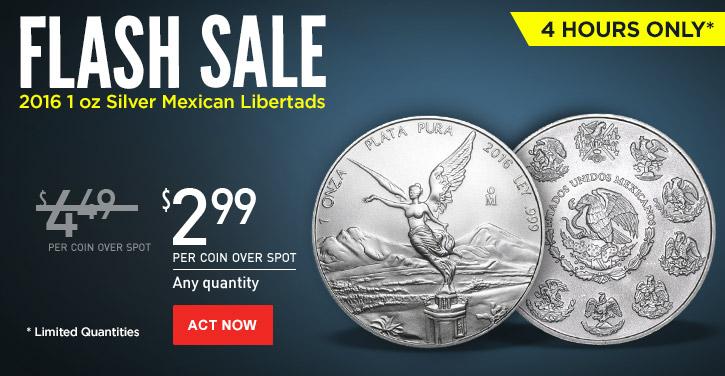Flash Sale - 2016 1 oz Silver Libertads