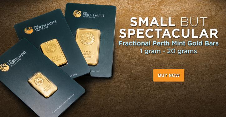 Fractional Perth Mint Gold Bars