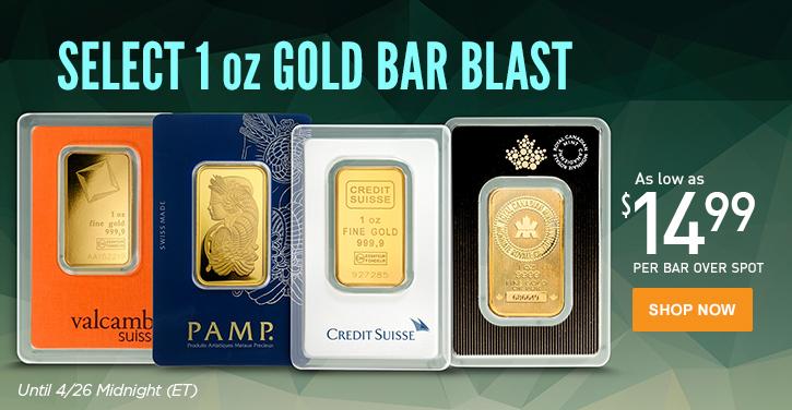 Select 1 oz Gold Bar Blast