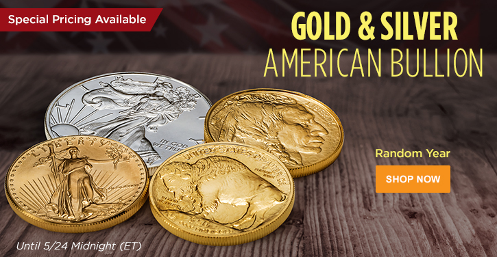 Random Year Gold and Silver American Bullion
