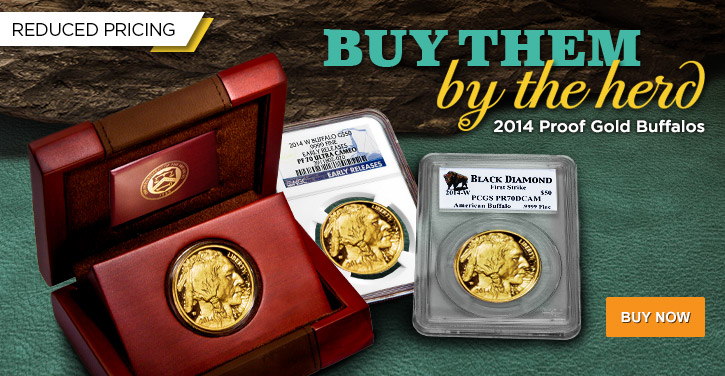 2014 Proof Gold Buffalos