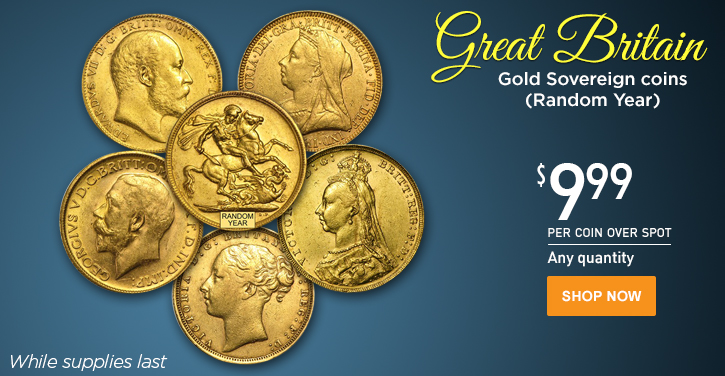 Random Year Great Britain Gold Sovereigns