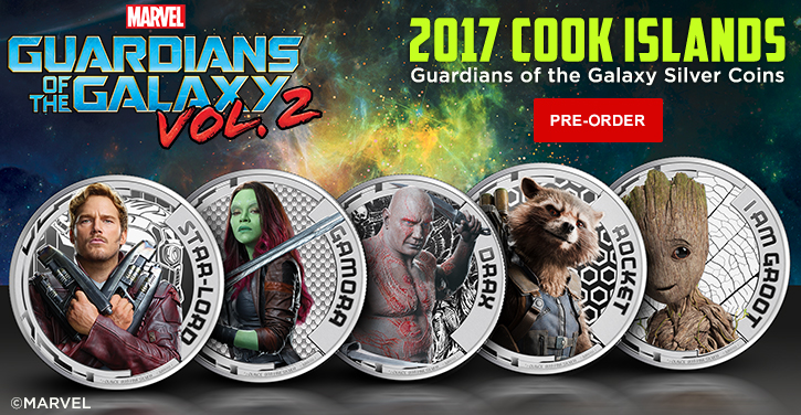 Guardians of the Galaxy Silver Coins