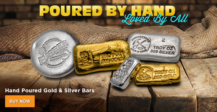 Hand Poured Gold & Silver Bars