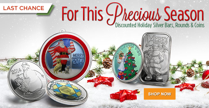 Holiday Silver Bars & Rounds