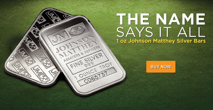 1 oz Johnson Matthey Silver Bars