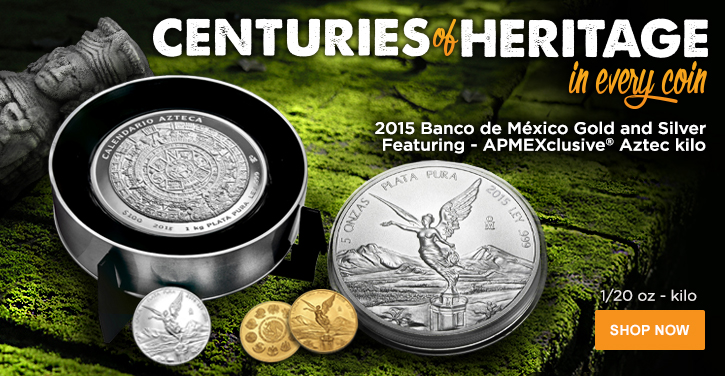 2015 Banco de Mexico Gold & Silver