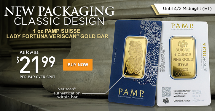 1 oz PAMP Suisse Veriscan Gold Bars