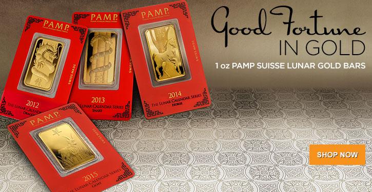 PAMP Suisse Gold Lunar Bars