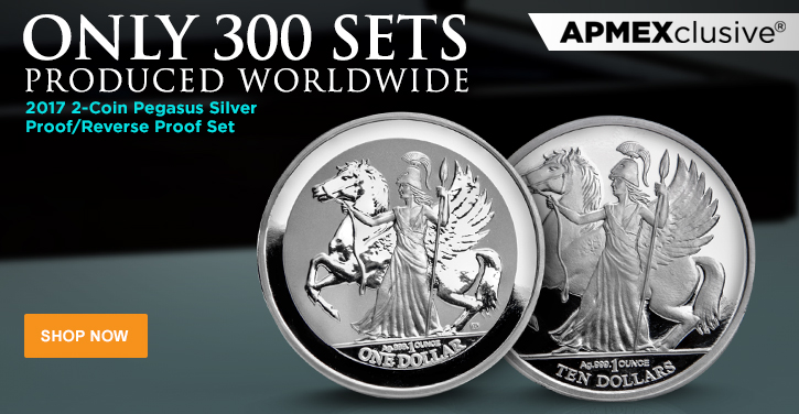 2017 Silver Pegasus Proof/Reverse Proof 2-Coin Set