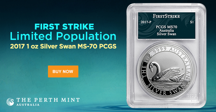 Perth Mint Graded Silver Swan Coins