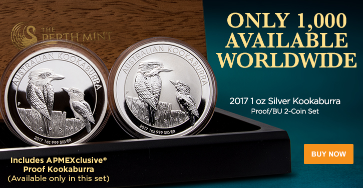 2017 Silver Kookaburra Proof/BU Set