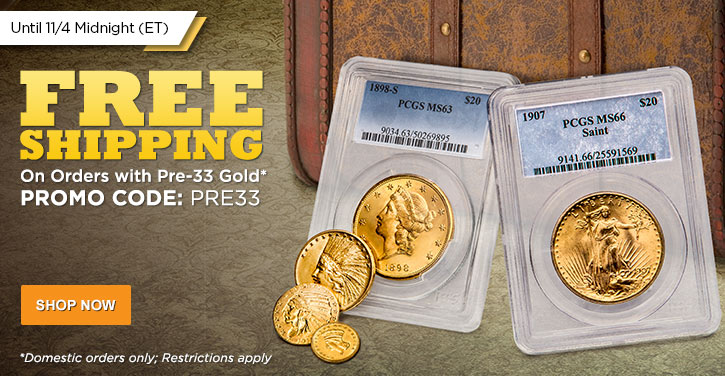 Pre-33 Gold Free Shipping