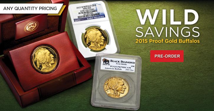 2015 Proof Gold Buffalos