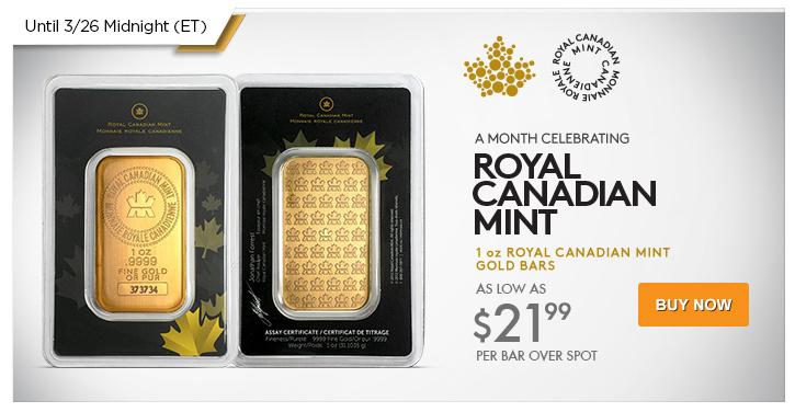 1 oz RCM Gold Bars