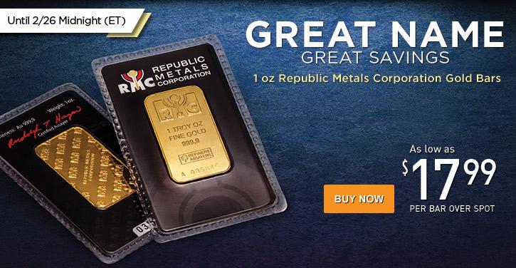 1 oz RMC Gold Bars