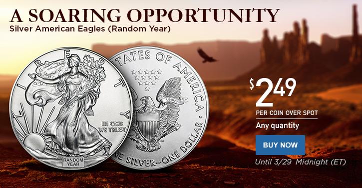 Random Year Silver Eagles