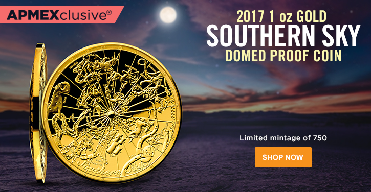 Southern Sky Gold Domed Coin