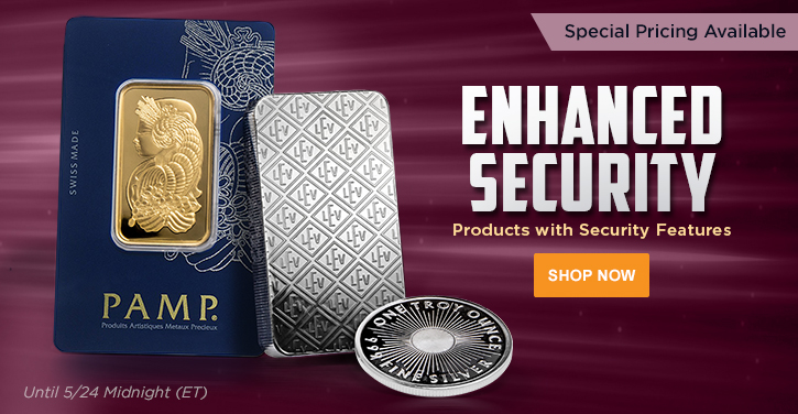 Bullion with Security Features