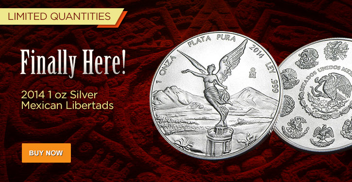 2014 1 oz Silver Mexican Libertads