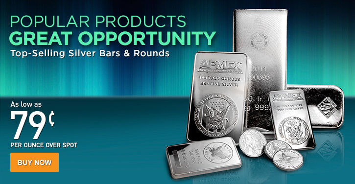 Top Selling Silver Bars & Rounds