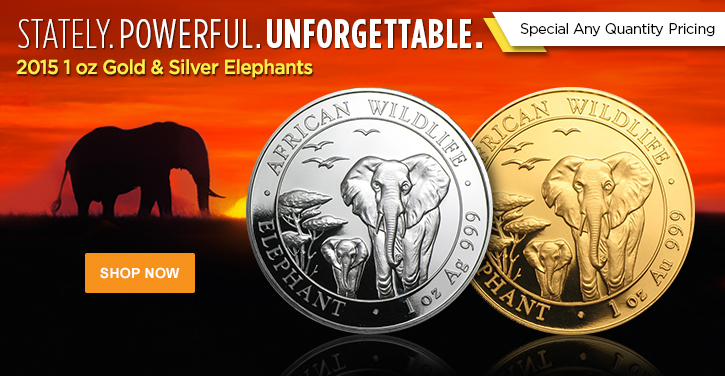2015 Gold and Silver Elephants