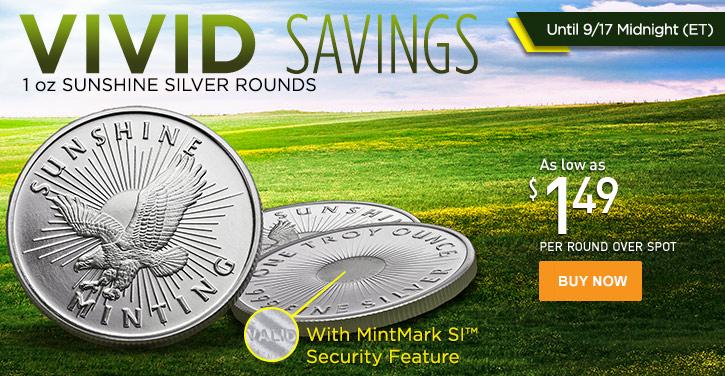 1 oz Sunshine Silver Round