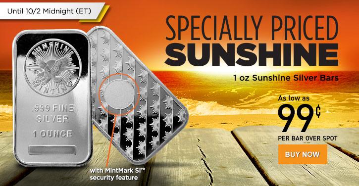 1 oz Sunshine Silver Bars