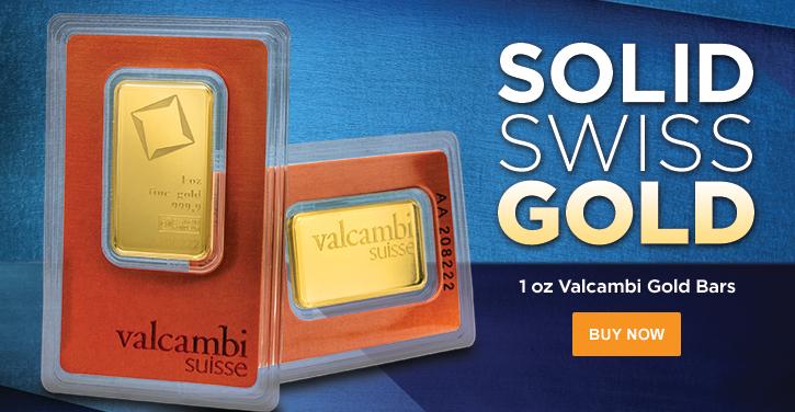 1 oz Gold Valcambi Bars