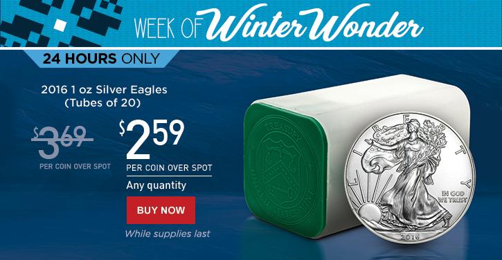 Week of Winter Wonder - 2016 Silver Eagle Tubes of 20