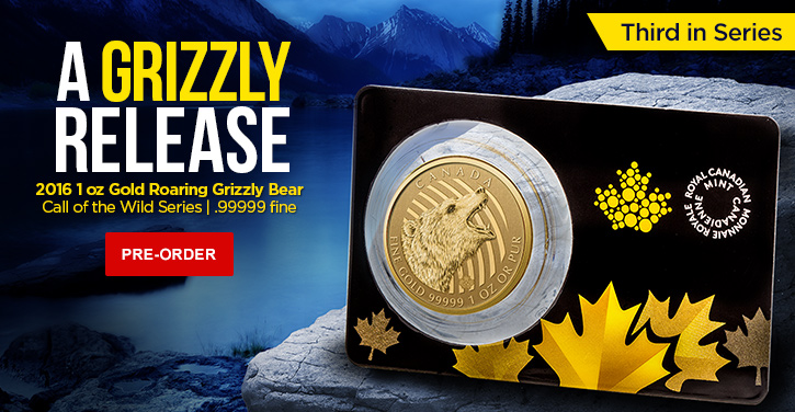 2016 Gold Grizzly Bear