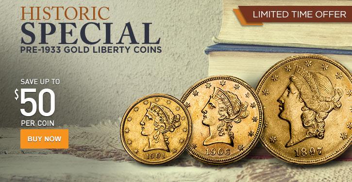 Pre-33 Gold Liberty Coins