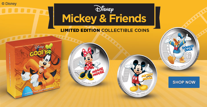 Silver Colorized Disney Coins