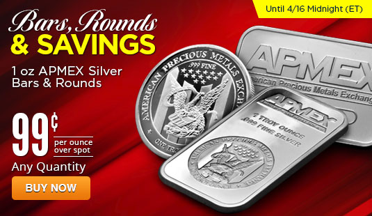 1 oz APMEX Silver Bars and Rounds