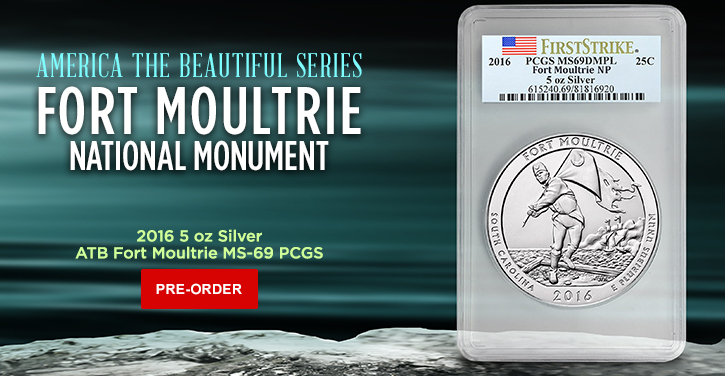 2016 5 oz Silver Certified ATB Coins