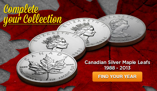 Canadian Silver Maple Leafs 2013-1988