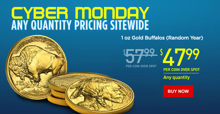 1 oz Gold Buffalos - Cyber Monday