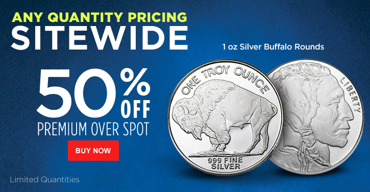1 oz Silver Buffalo Rounds - Cyber Monday