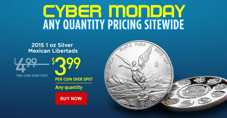 2015 1 oz Silver Libertads - Cyber Monday