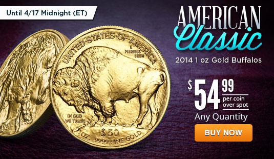 2014 1 oz Gold Buffalo