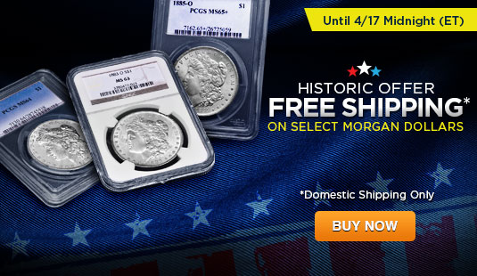 Free Shipping on Morgan Dollars