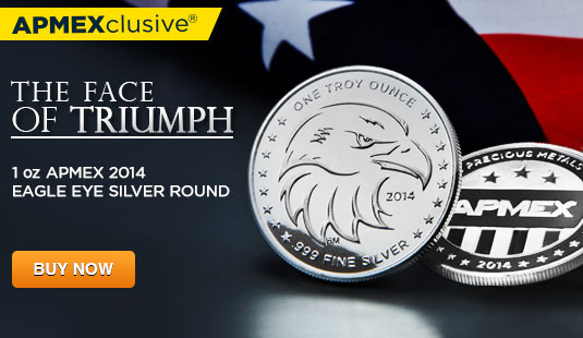 1 oz APMEX Eagle Eye Silver Round
