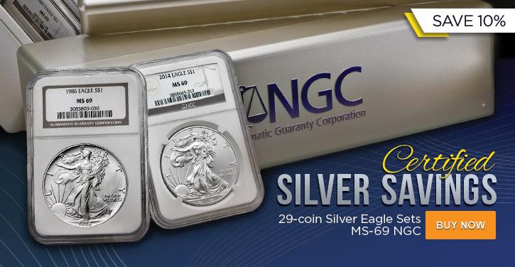Complete NGC Silver Eagle Sets