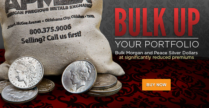 Bulk Morgan and Peace Silver Dollars (Raw)
