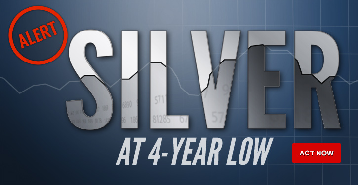 Silver at a 4-year low
